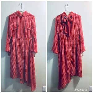 ASOS Red & White Polka Dot Dress
